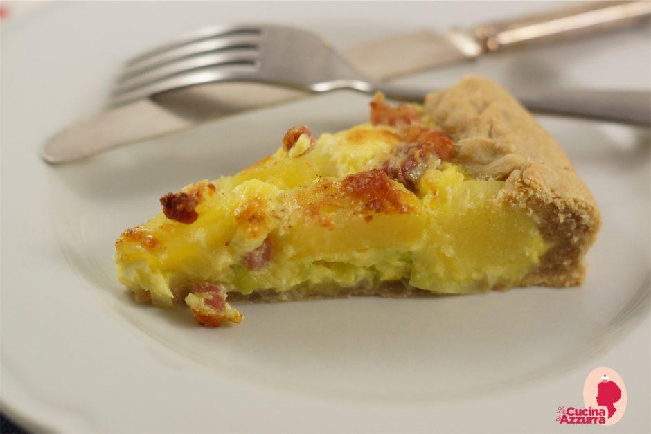 torta brisè con patate