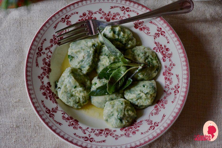 gnudi ricotta e spinaci