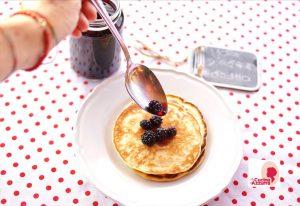 pancake con more sciroppate
