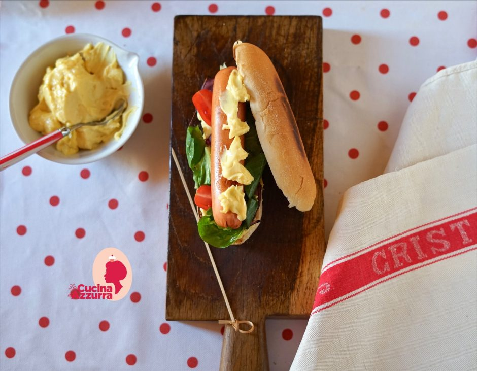 hot dog con maionese