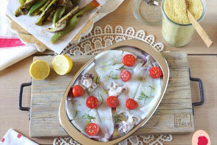 cous cous calamari e verdure